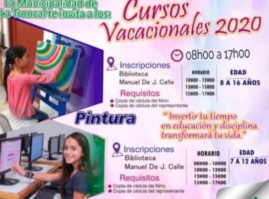 CURSO VACACIONALES 2020, INSCRIPCIONES ABIERTAS.